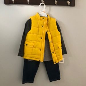 3 Pc Little Me Boys Outfit
